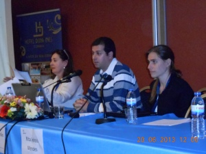 Ricardo Simoes (middle), president of Igualdade Parental Portugal.