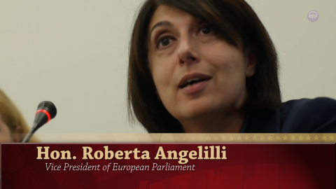 Roberta Angelilli, Vice-President of the European Parliament